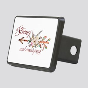 Strong and courageous Rectangular Hitch Cover
