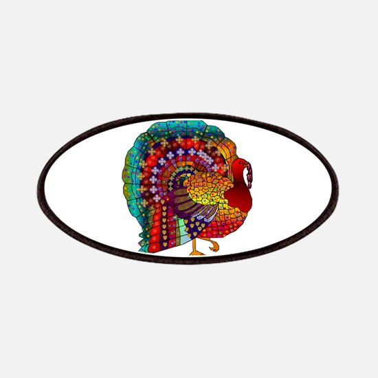 Thanksgiving Jeweled Turkey Patches