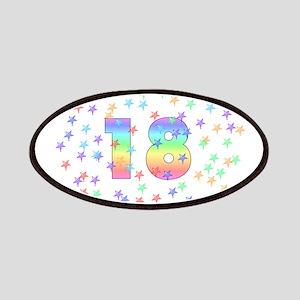 18th Birthday Pastel Stars Patches