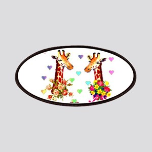 Wedding Giraffes Patches