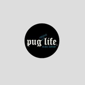 Black Pug Rescue Life Mini Button