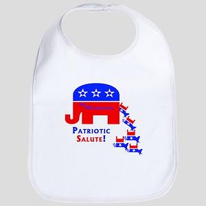 Patriotic Salute Bib