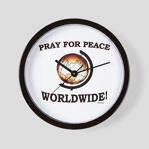 Pray For Peace Worldwide Wall Clock