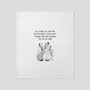 funny doctor joke Throw Blanket