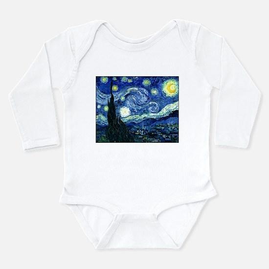 Starry Night Long Sleeve Infant Bodysuit