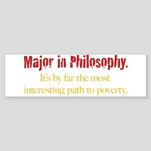 Major in Philosophy Sticker (Bumper 10 pk)