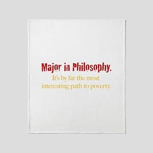 Major in Philosophy Throw Blanket