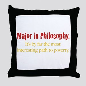 Major in Philosophy Throw Pillow