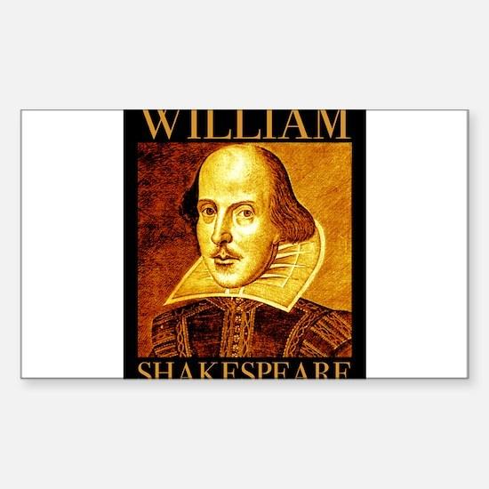William Shakespeare Sticker (Rectangle 10 pk)