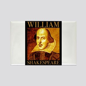 William Shakespeare Rectangle Magnet (10 pack)