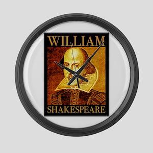 William Shakespeare Large Wall Clock