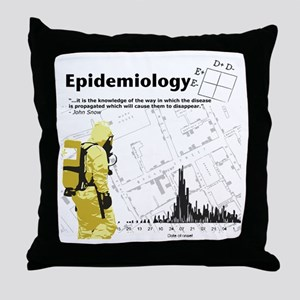 Epidemiology Inspirational Quote Throw Pillow