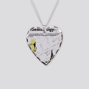 Epidemiology Inspirational Quote Necklace Heart Ch