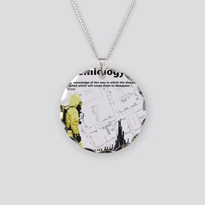 Epidemiology Inspirational Quote Necklace Circle C