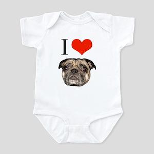 i <3 Pugs Infant Bodysuit