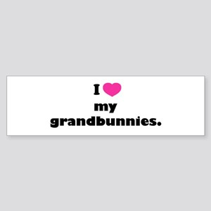 I love my grandbunnies. Sticker (Bumper)