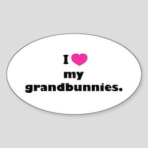 I love my grandbunnies. Sticker (Oval)