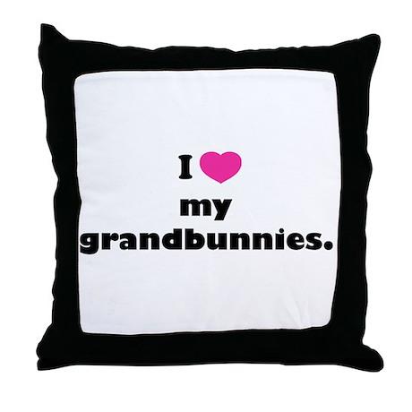 I love my grandbunnies. Throw Pillow