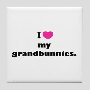 I love my grandbunnies. Tile Coaster