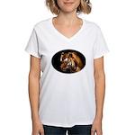 Bengal Tiger Women's V-Neck T-Shirt