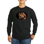 Bengal Tiger Long Sleeve Dark T-Shirt