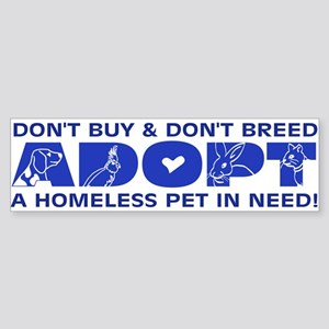Blue Adopt Bumper Sticker
