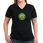 Master Gardener Seal Women's V-Neck Dark T-Shirt