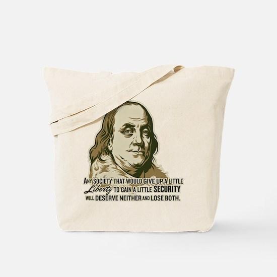 Franklin Extremist Tote Bag