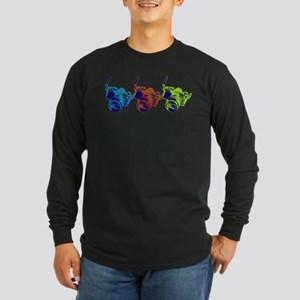 Pop Art Retro Camera Long Sleeve Dark T-Shirt