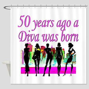 50TH DIVA Shower Curtain
