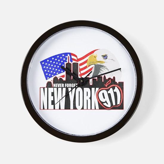 New York 911 Wall Clock