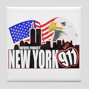 New York 911 Tile Coaster