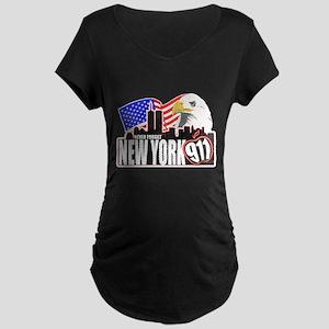 New York 911 Maternity Dark T-Shirt