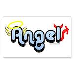 Angel/Devil Rectangle Sticker