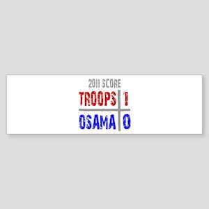 Troops 1 Osama 0 Sticker (Bumper)