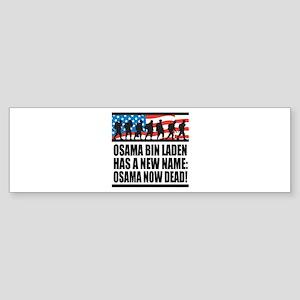 Osama Now Dead Sticker (Bumper)