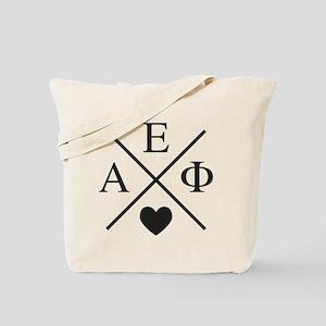 Alpha Epsilon Phi Cross Heart Tote Bag