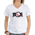 Women's White V-Neck T-Shirt