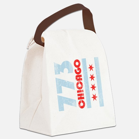 Funny Chicago flag Canvas Lunch Bag