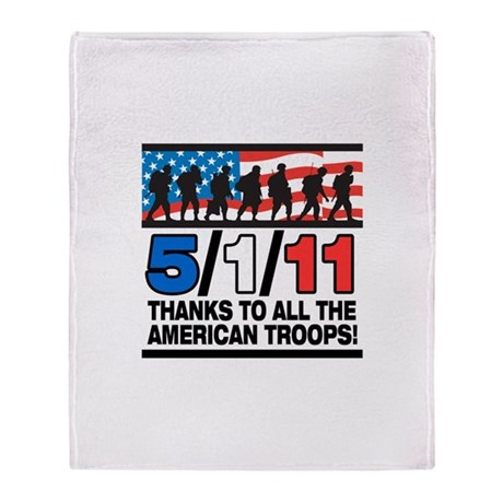5/1/11 Thanks to the Troops Throw Blanket