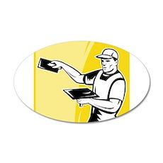 plasterer worker tradesman 22x14 Oval Wall Peel
