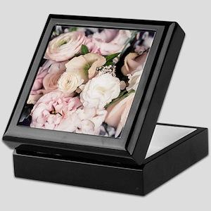Spring Bouquet in Pastel Keepsake Box