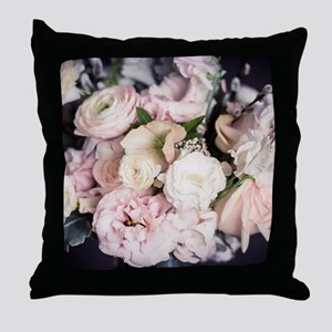 Spring Bouquet in Pastel Throw Pillow
