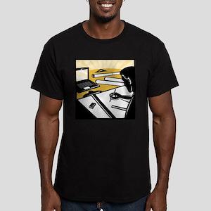 architectural draftsman Men's Fitted T-Shirt (dark