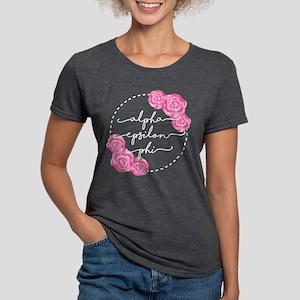 Alpha Epsilon Phi Floral Womens Tri-blend T-Shirts