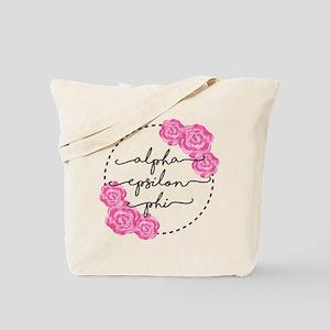 Alpha Epsilon Phi Floral Tote Bag