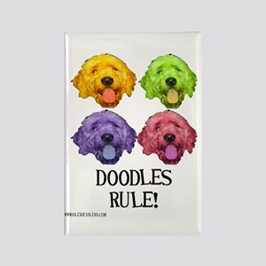 Doodles Rule Rectangle Magnet