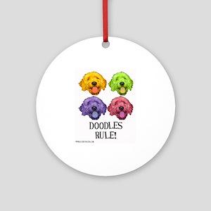 Doodles Rule Ornament (Round)