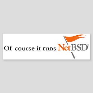 NetBSD Logo / Slogan Bumper Sticker