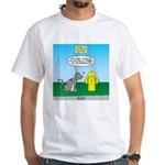 Cat Fire Hydrant Issue White T-Shirt